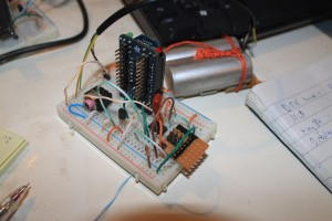 Breadboard ICSP programmer in-situ in a wireless sensor node