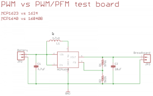 MCP1623/MCP1624 comparison board schematic