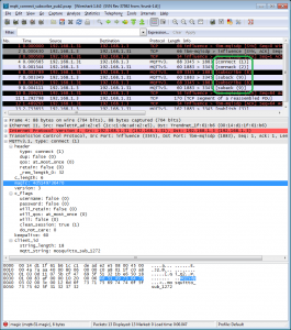 MQTT decoding in Wireshark through WSGD