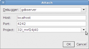 screenshot for netbeans gdbserver attach dialog