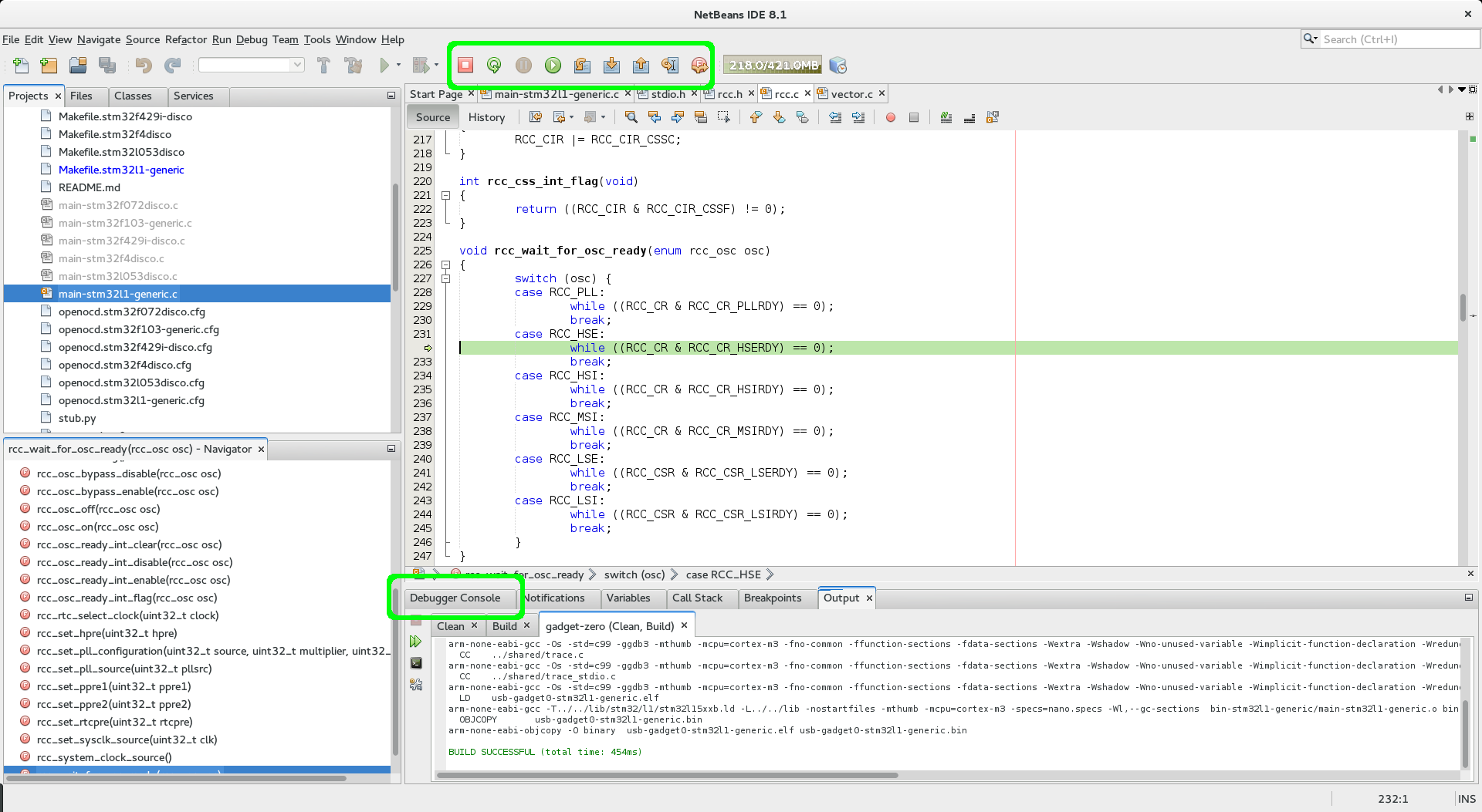 Using NetBeans for STM32 development with OpenOCD | False